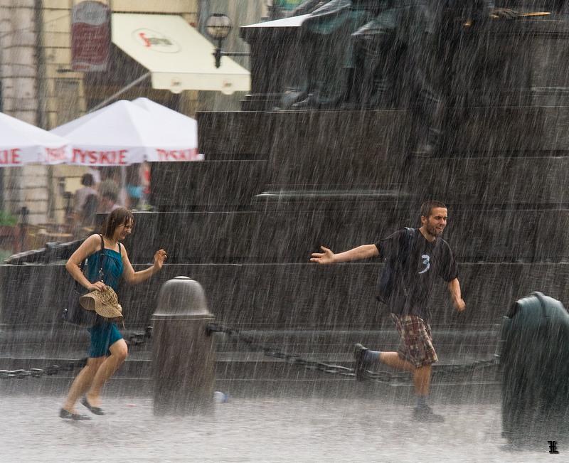 Deszcz na Rynku